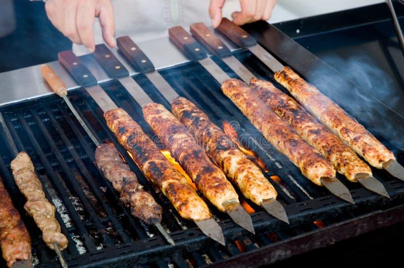 grilla kebaby kulinarni fotografia royalty free