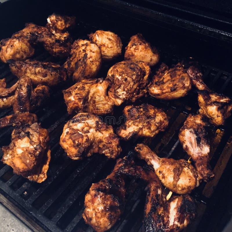 grilla kurczaka grill fotografia stock