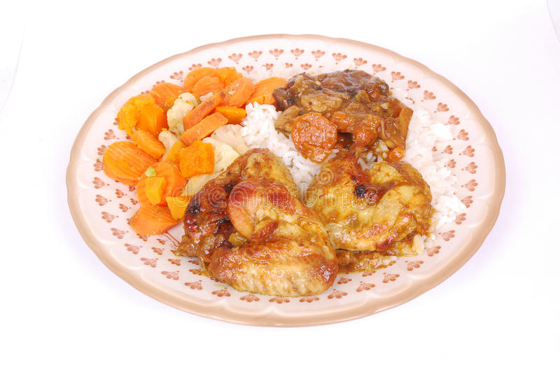 grilla kurczaka naczynie zdjęcia royalty free