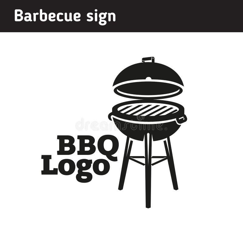 Grilla logo w pełnym rozmiarze, grill royalty ilustracja