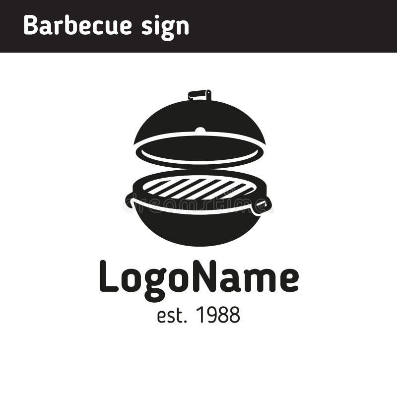 Grilla logo w pełnym rozmiarze, grill ilustracja wektor