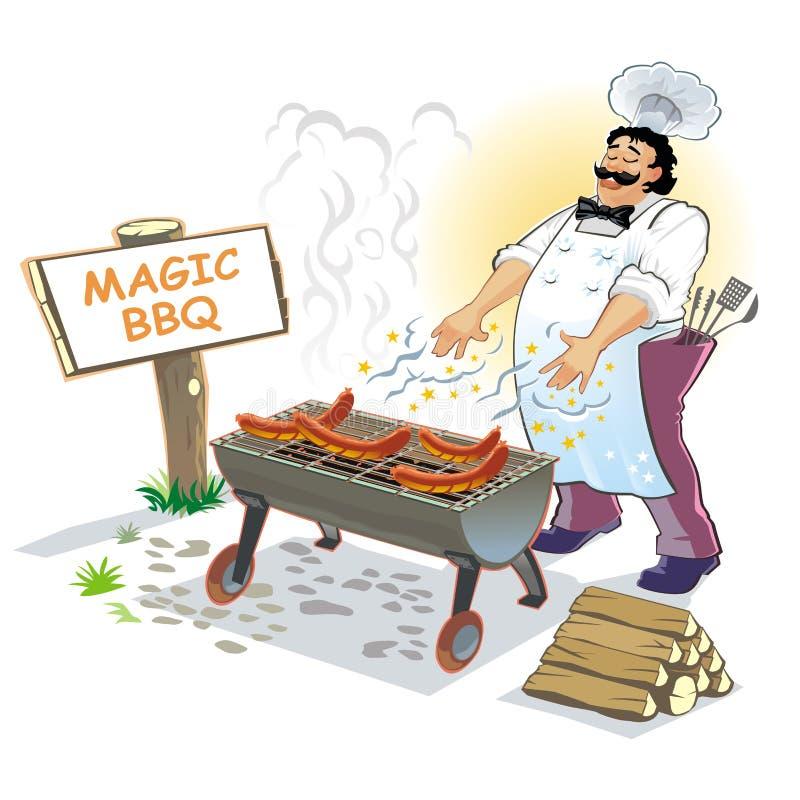 grilla magii mistrz royalty ilustracja