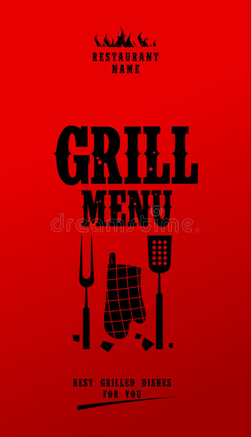 grilla menu ilustracja wektor
