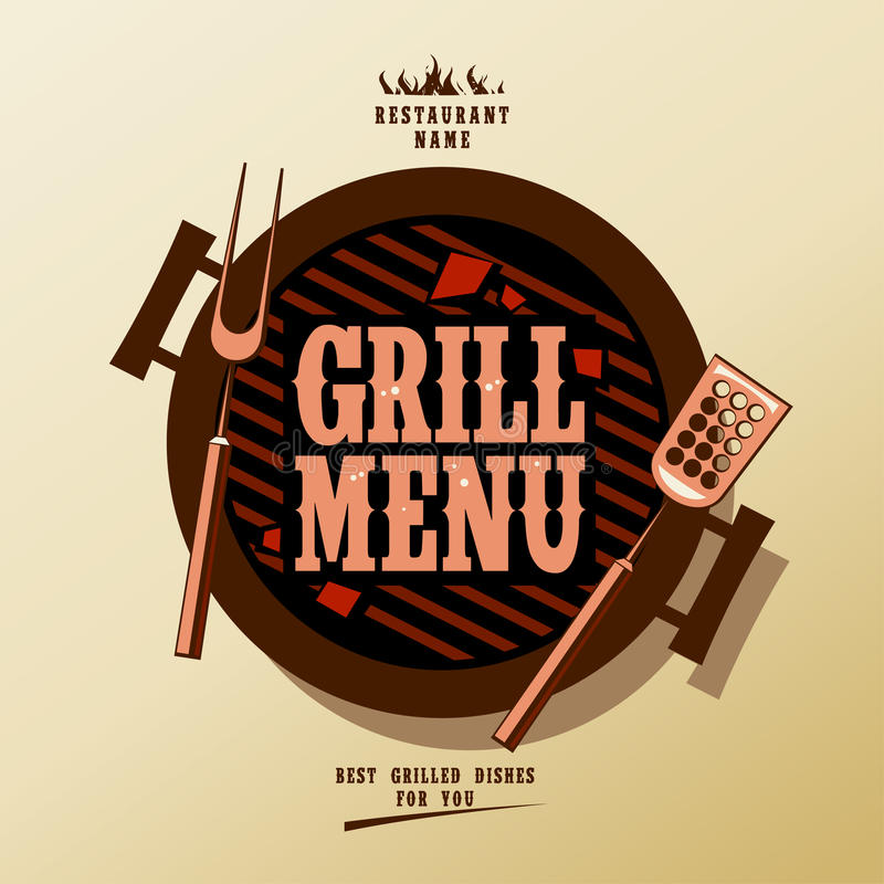 Grilla Menu Obrazy Stock