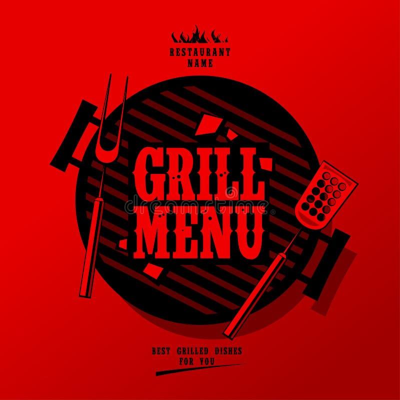 Grilla menu. royalty ilustracja