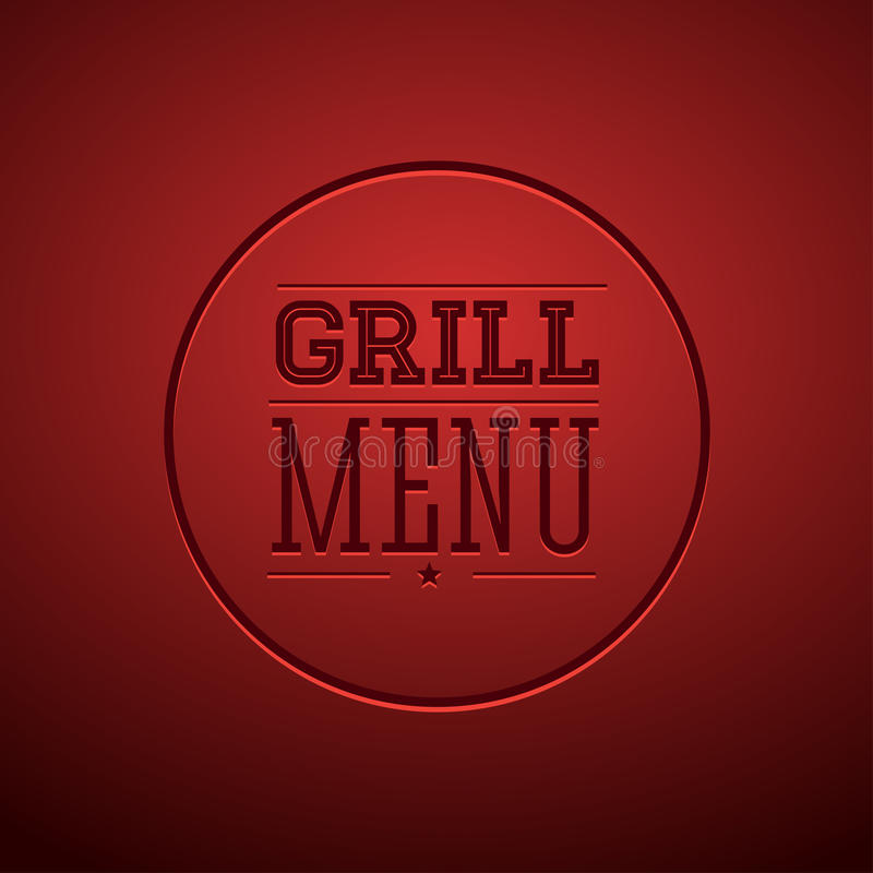 Grilla menu ilustracji