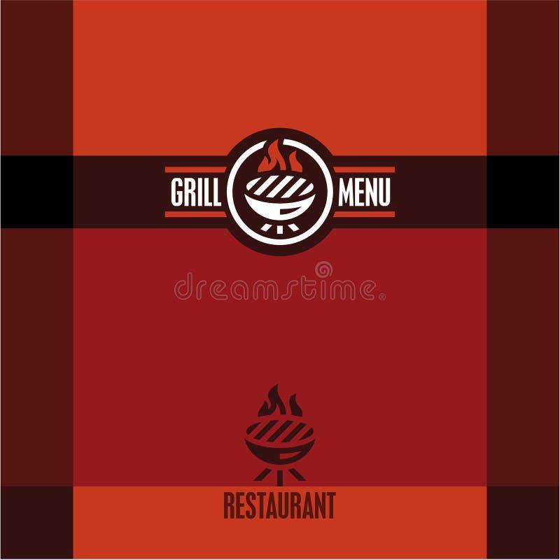 Grilla menu Grill ikona ilustracji