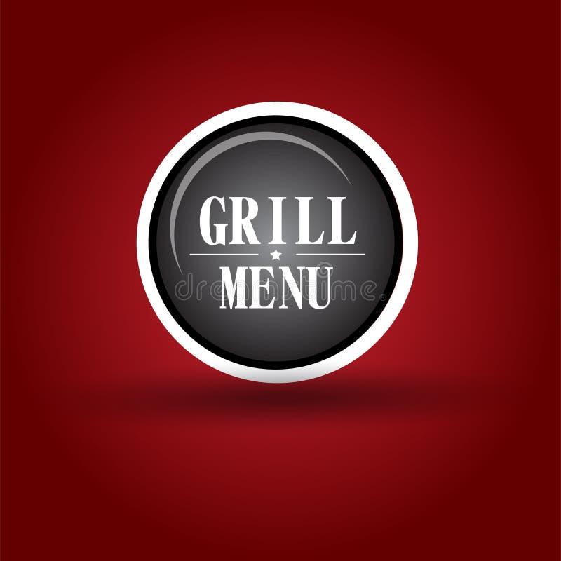 Grilla menu ikona royalty ilustracja