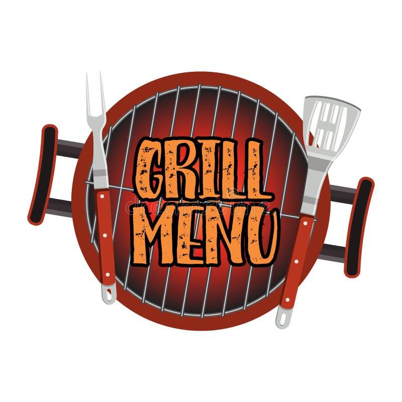 Grilla menu Karcianego projekta szablon ilustracja wektor