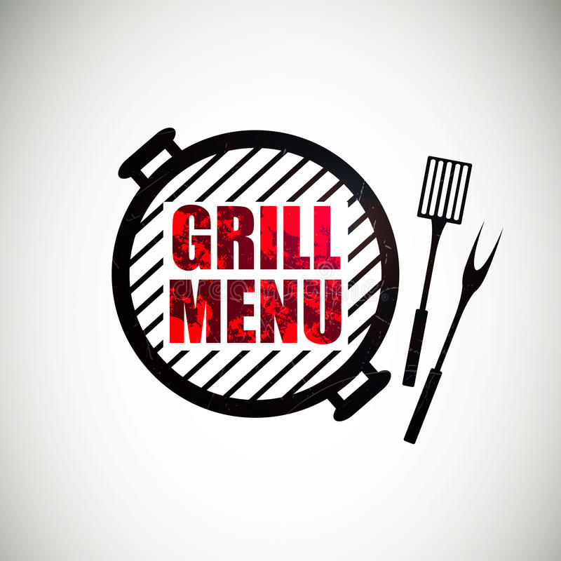Grilla menu projekt ilustracji
