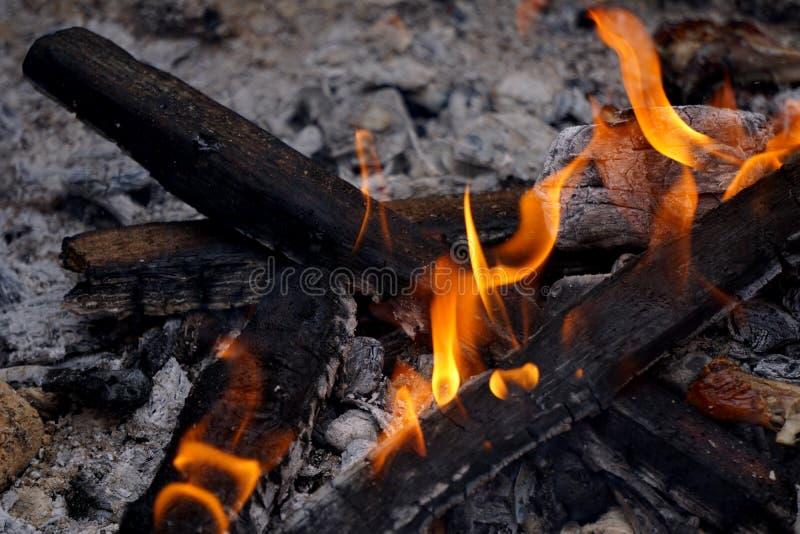 Grilla ogień zdjęcia stock