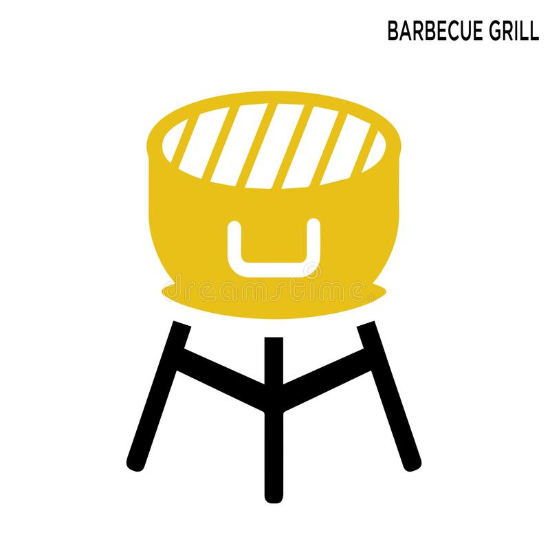 Grilla ogienia grilla ikona ilustracja wektor