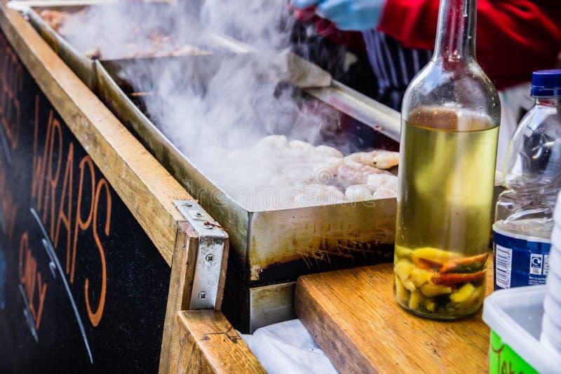grilla owoce morza fotografia stock