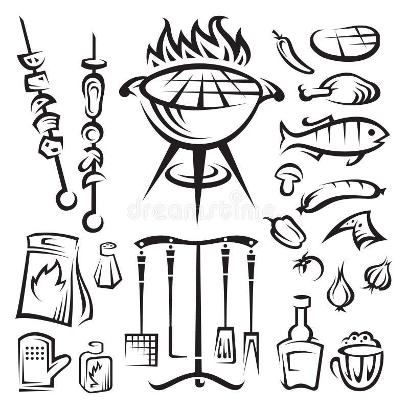 grilla przyjęcia wektor ilustracji