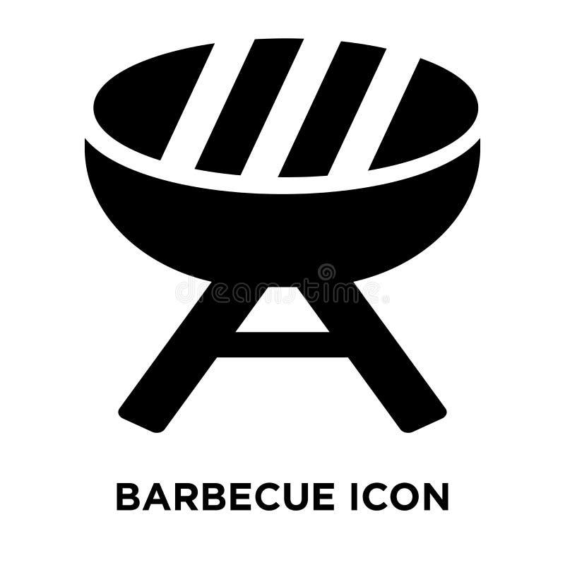 Grilla symbolsvektorn som isoleras på vit bakgrund, logobegrepp stock illustrationer