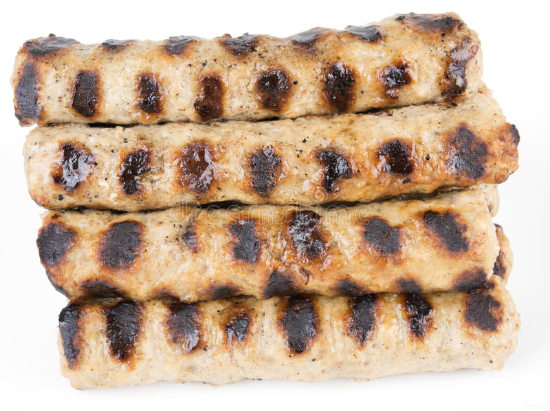 Grillad bulgarisk kebapche för köttbollar royaltyfri foto