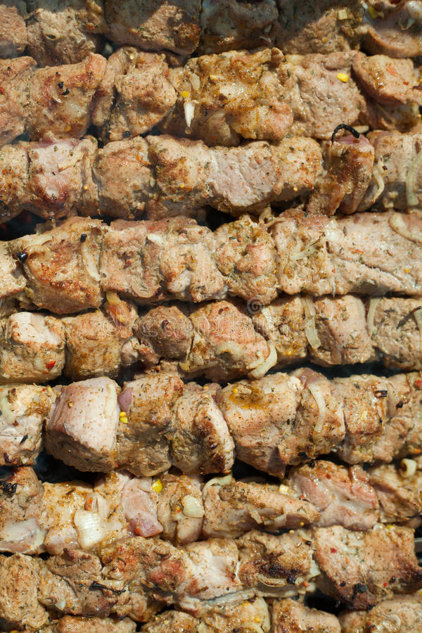 Download Grillad kebab fotografering för bildbyråer. Bild av äta - 19788803