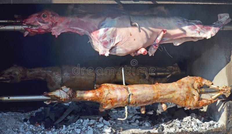 grillad lamb grillad lamb royaltyfri foto