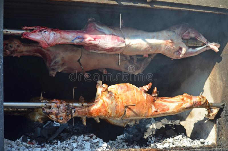 grillad lamb grillad lamb royaltyfria foton
