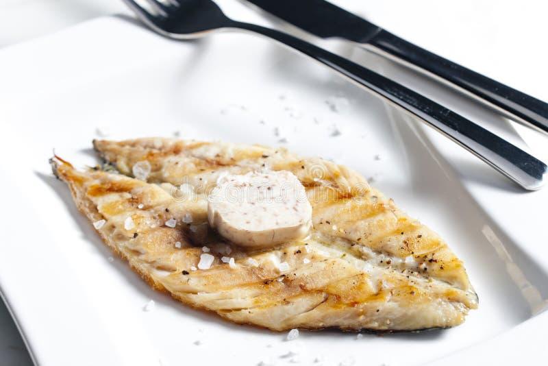 grillad mackerel arkivbild