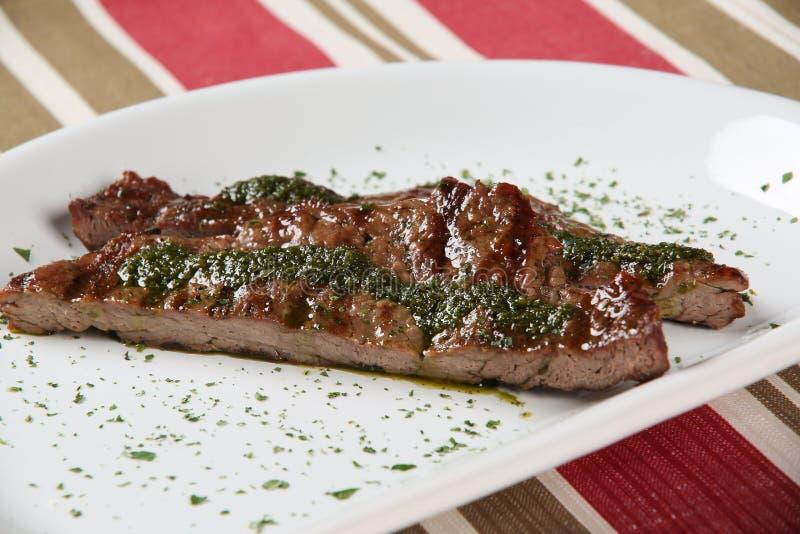 grillad meatplatta arkivbilder