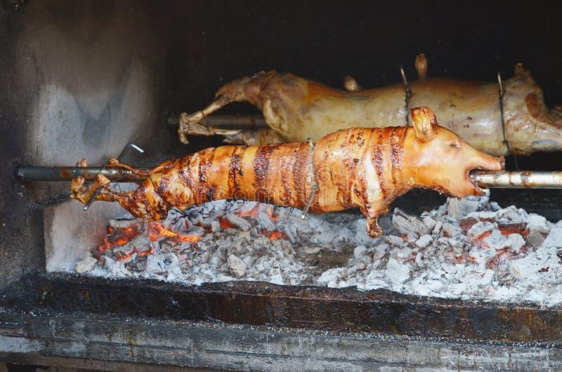 grillad pig grillad pig royaltyfria foton