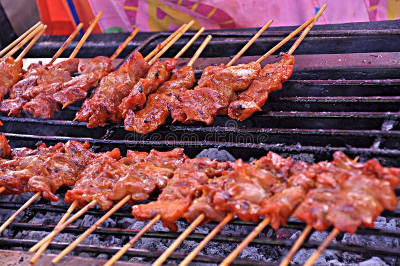 grillad pork arkivfoton