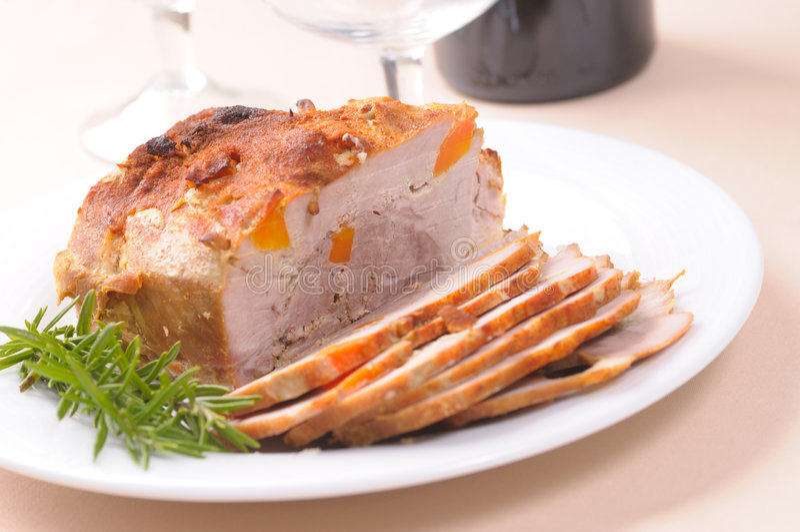 grillad pork arkivbilder