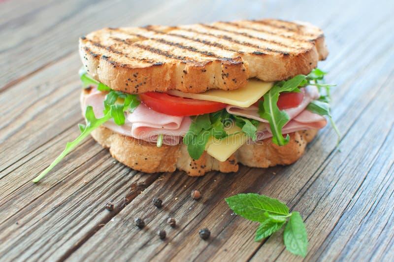 grillad smörgås arkivfoton