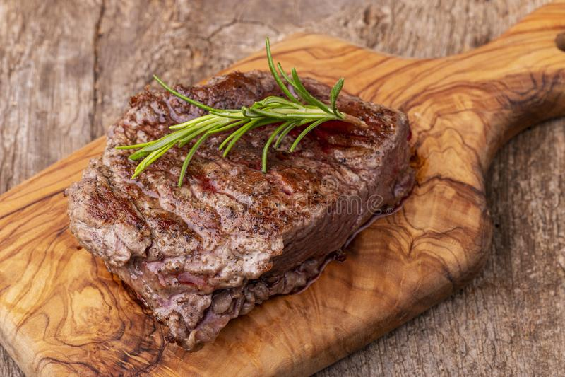 grillad steak royaltyfri bild