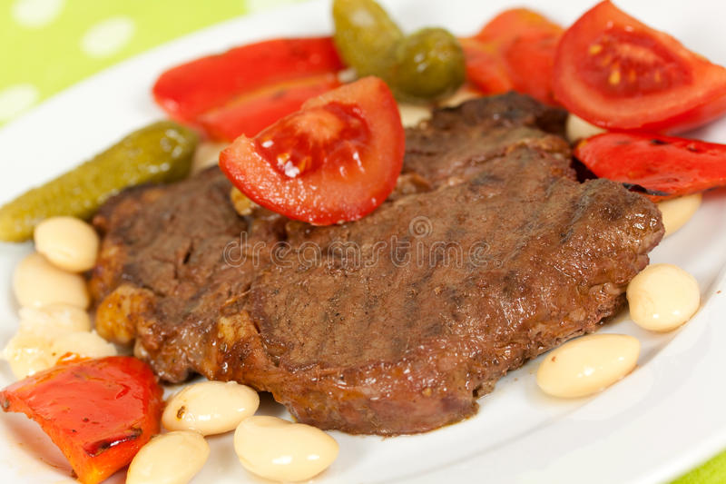 grillad steak för kotlettgaller pork arkivbild