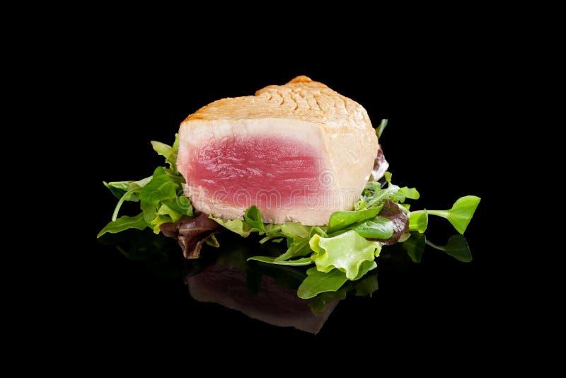 grillad steaktonfisk arkivbilder