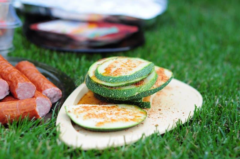 Grillad zucchini arkivfoton