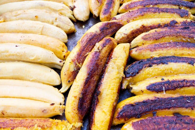 Grillade bananer royaltyfria foton