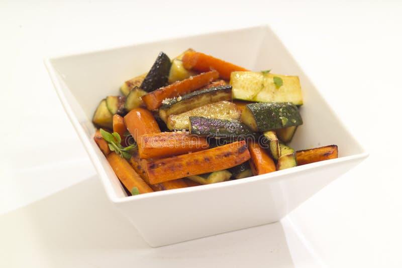 grillade grönsaker arkivbild