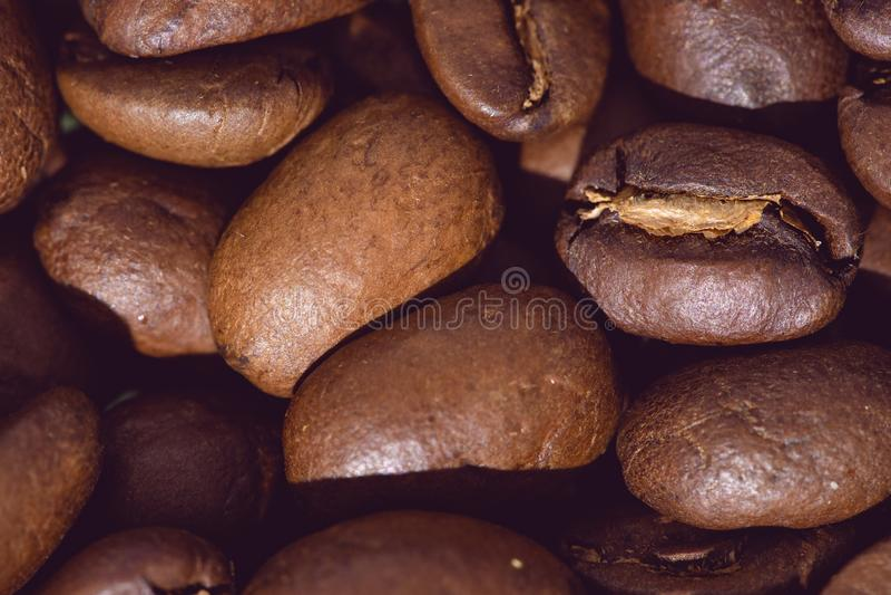 Grillade kaffeb?nor, kan anv?ndas som en bakgrund arkivbild