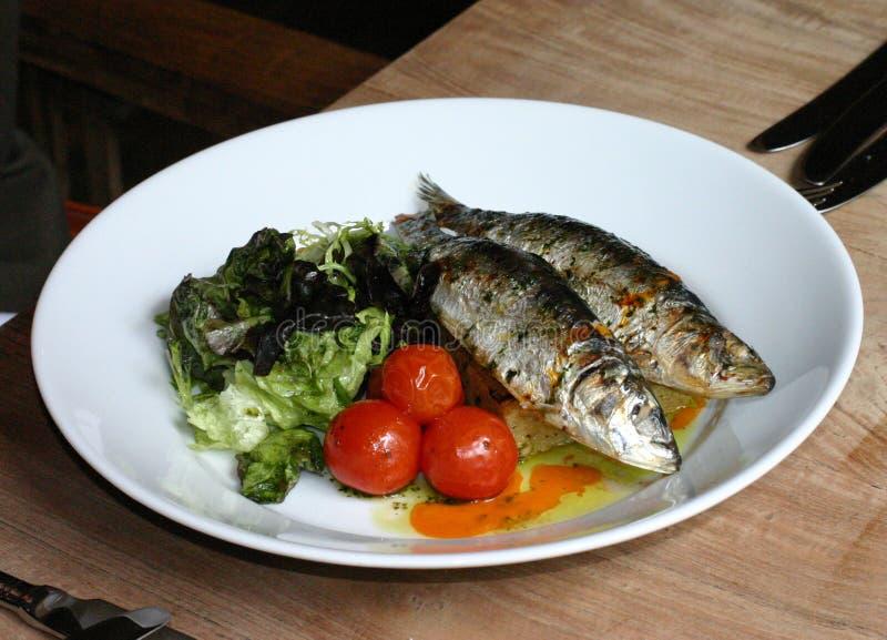 grillade sardines arkivfoto