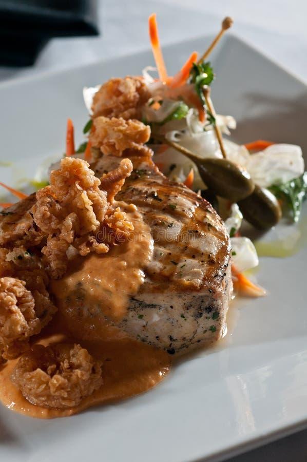grillade swordfish royaltyfri fotografi