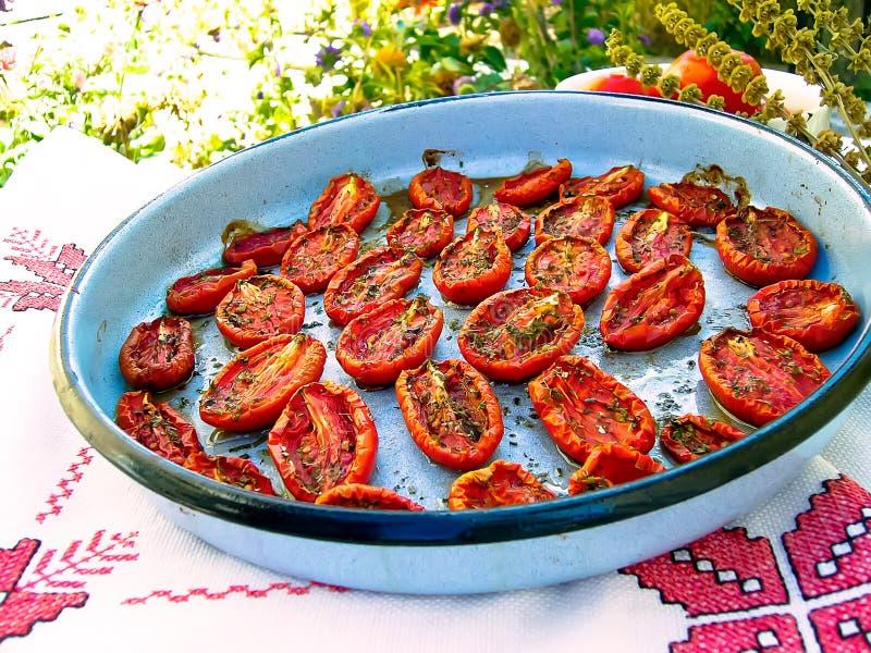 grillade tomater royaltyfri fotografi