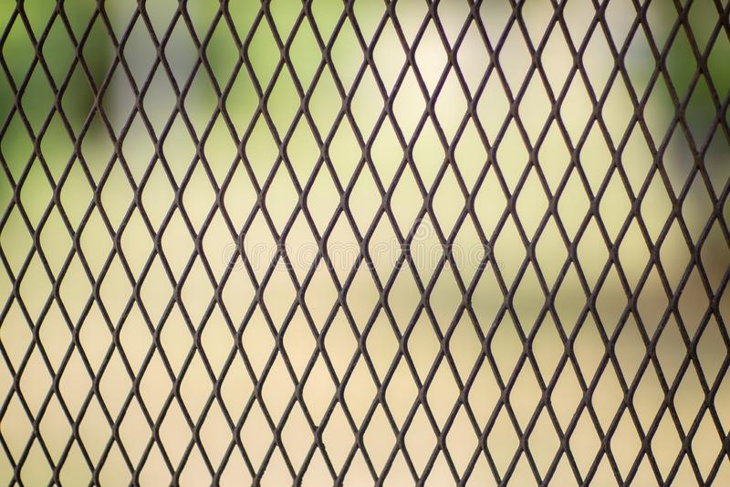 Grillage de fer Fond de texture de rouille de grils de barri?re Barri?re Steel Background photo stock