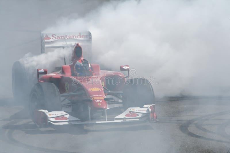 Grillage de Ferrari F1 images libres de droits
