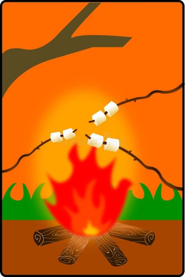Grillage de guimauve illustration de vecteur