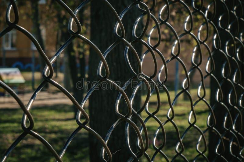 grillage métallique texture de clôture métallique image libre de droits