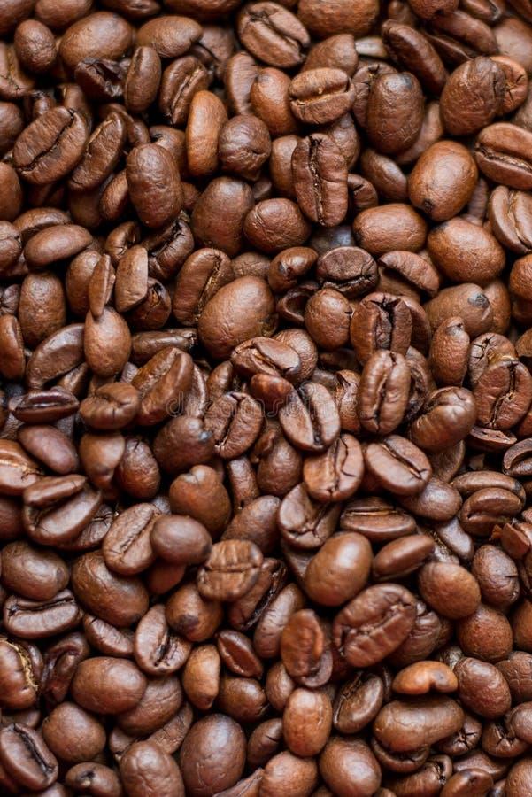 grillat bakgrundsbönakaffe Brun textur drinkar arkivbild