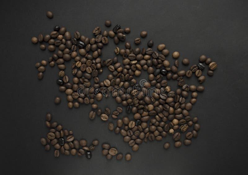 grillat bakgrundsbönakaffe arkivbild