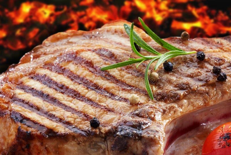 Grillat grisköttkött royaltyfri fotografi