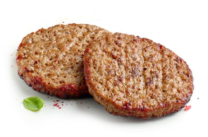 Grillat hamburgarekött arkivfoton