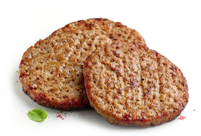 Grillat hamburgarekött royaltyfria foton