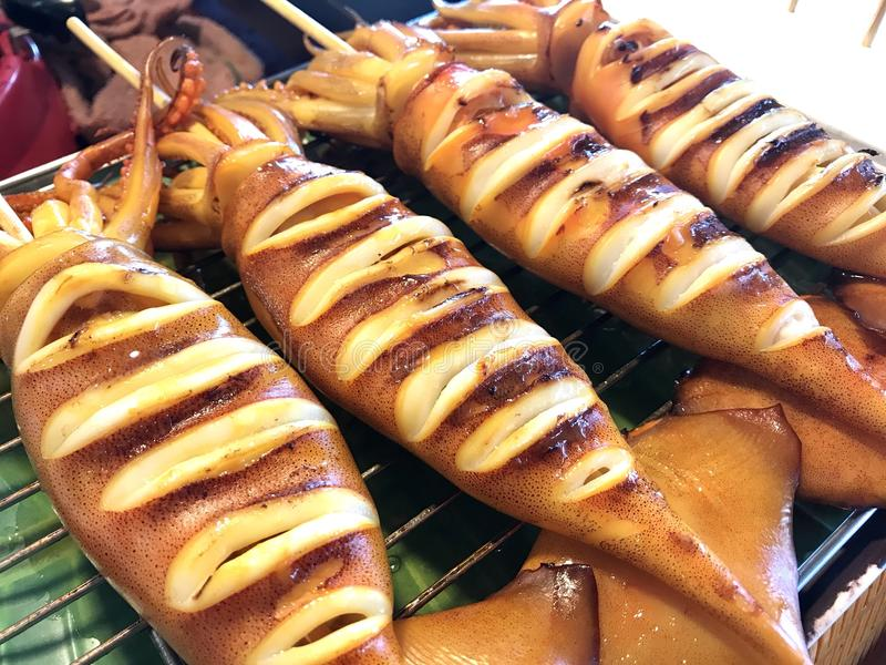 grillat hav för fiskmatparsley platta royaltyfri bild