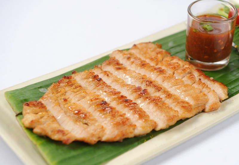 grillat thai för nötkött mat arkivbild